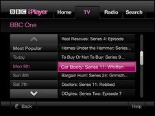 iPlayer on Wii - Channel Schedule